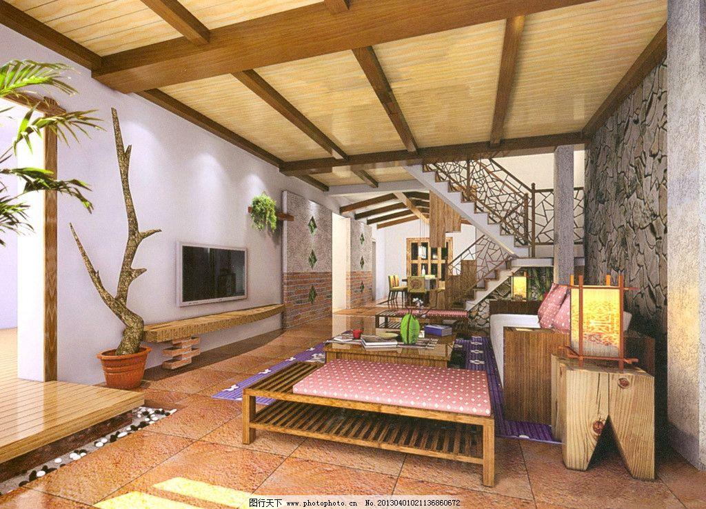 室内设计 楼梯 模型 场景