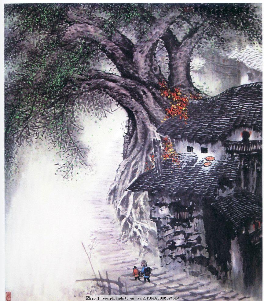 重庆吊脚楼 吊脚楼 重庆老房子 巴渝民居 重庆 中国画 重庆特色图案图片