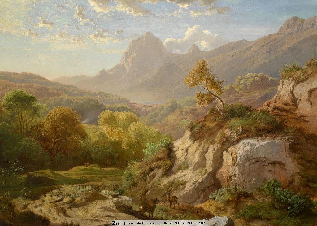 风景油画 油彩 绘画 色彩 美术 外国 装饰画 配画 挂画 艺术