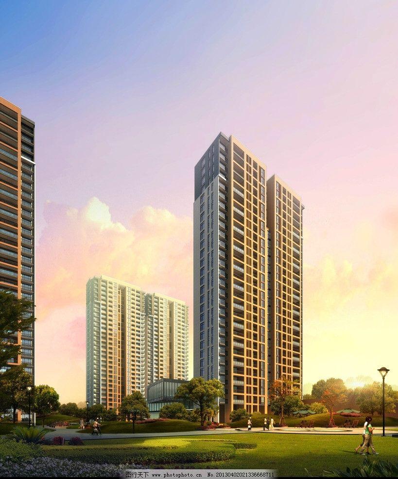 3d 设计        单体效果 住宅 高层 建筑      概念设计 设计效果图