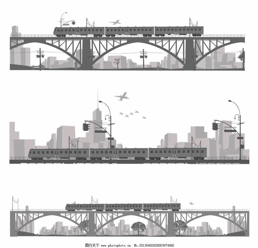城市建筑 城市桥梁图片_建筑设计_环境设计_图行天下