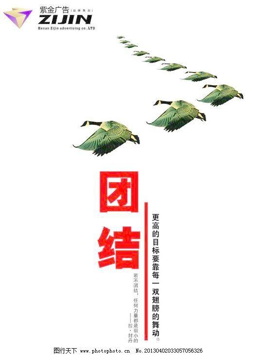 公司挂图 团结 翅膀 大雁 广告设计 力量 目标 排队 团队 团结矢量图片