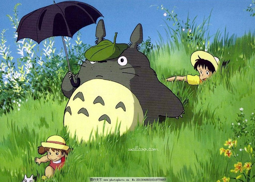 龙猫 宫崎骏 漫画 动漫 人物 动漫人物 动漫动画 卡通 可爱 绿色 壁纸