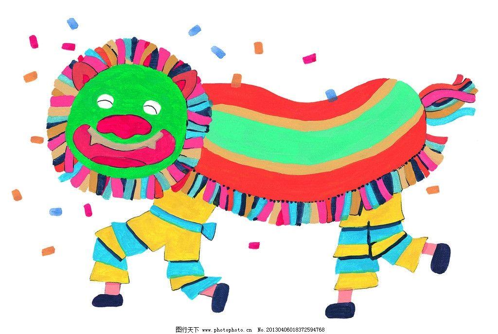 彩色手绘图 动物 手绘 卡通 精致彩绘 设计图库 可爱 超清晰 手绘图