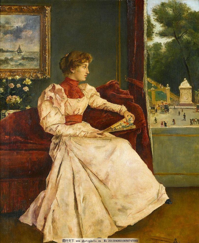 油画人物 油画 油彩 绘画 色彩 美术 外国 装饰画 配画 挂画 艺术