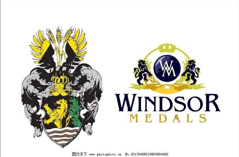 外国徽章logo 盾牌 狮子 盔甲 外国 国外 西方 西式 欧式 徽章 臂章
