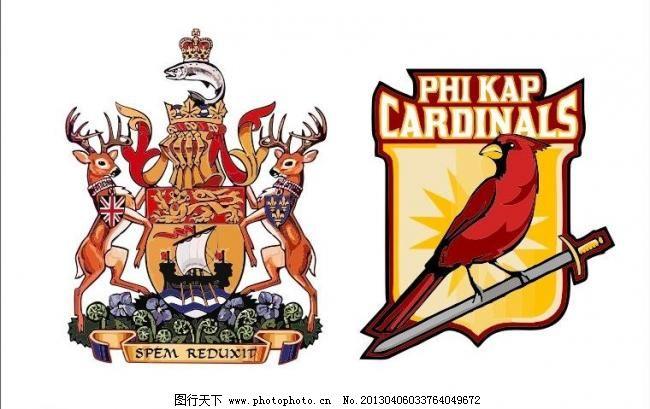 抽象 创意 外国徽章logo 盾牌 皇冠 鹿 鸟 外国 国外 西方 西式 欧式