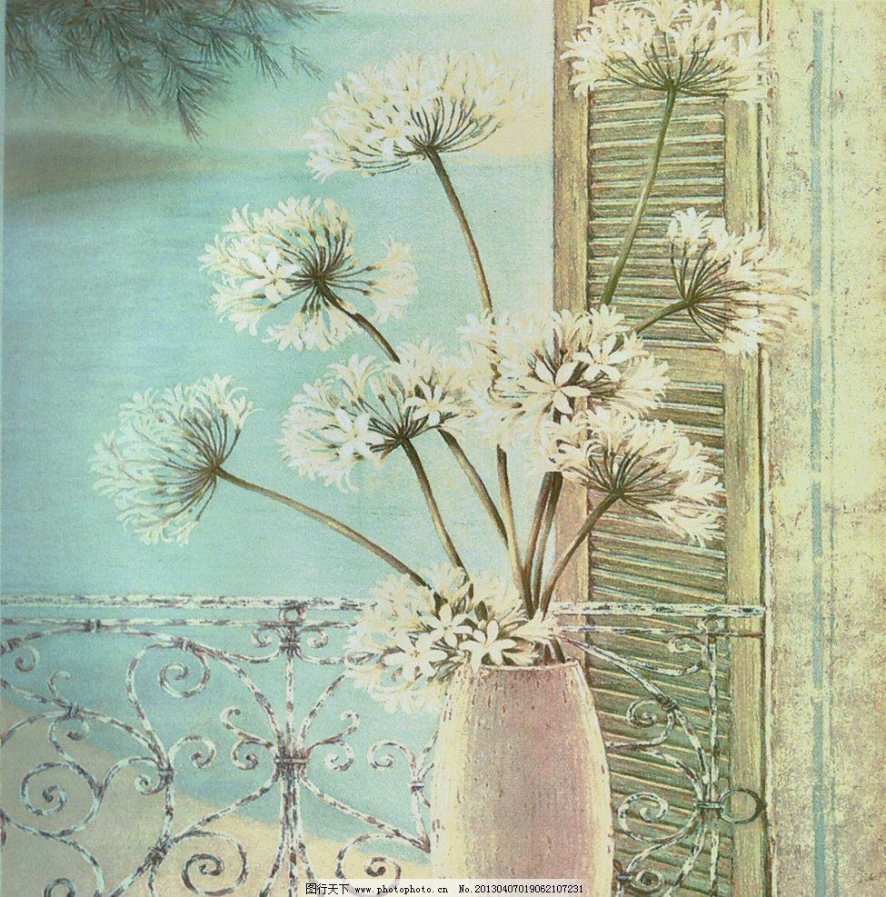 花卉 卡纸画 装饰画 墙绘 油画 丙烯画 绘画书法 文化艺术 设计 100