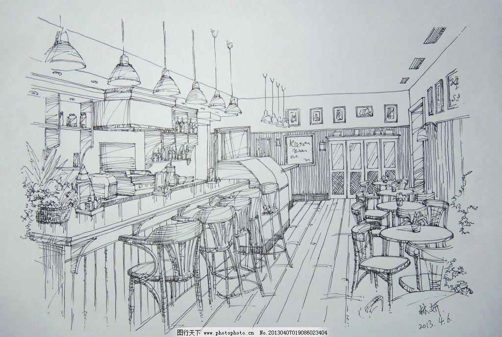 室内写生 室内 写生 手绘 线稿 林妍 绘画书法 文化艺术 设计 72dpi