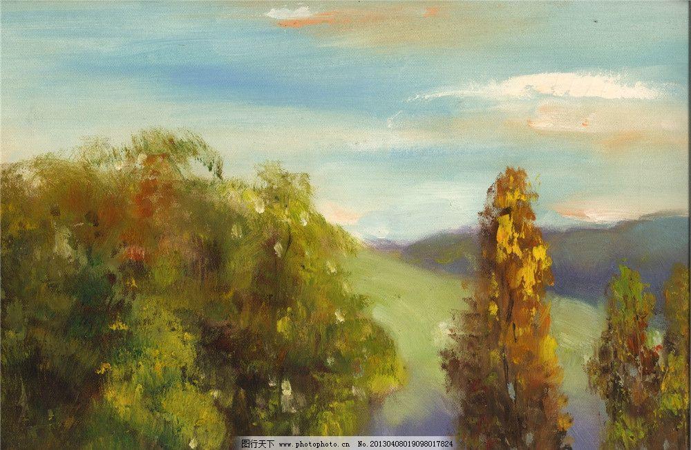 写生风景油画图片