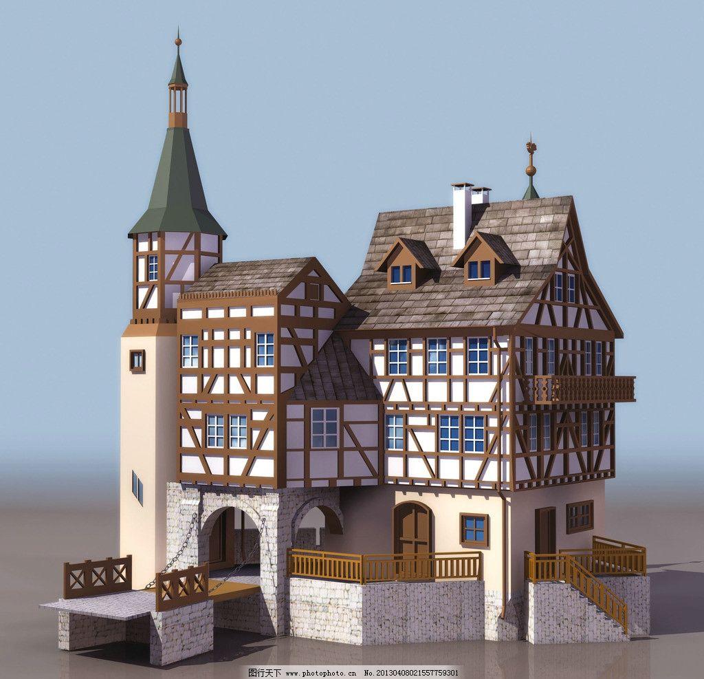 欧式建筑 3dmax 建筑 模型