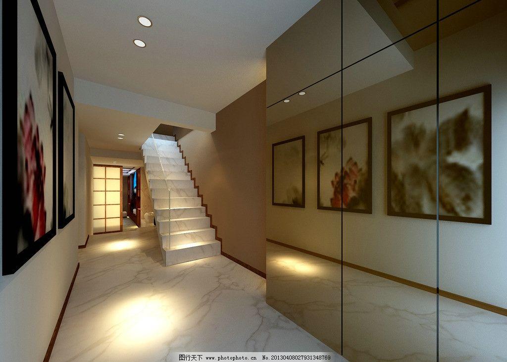 过道 家装 别墅 楼梯 现代 室内设计 环境设计 设计 72dpi jpg