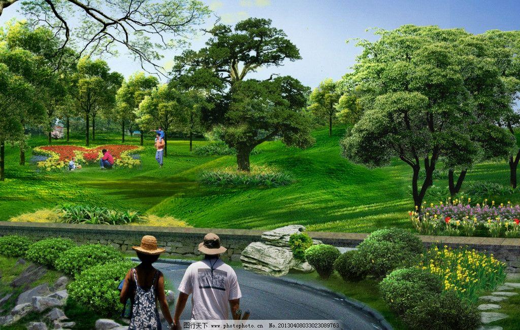 园林 景观 绿化 园林景观生态大门 景观设计 环境设计 卧牛山 广场