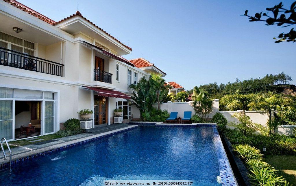 别墅泳池 后花园 游泳池 豪华泳池 豪宅 建筑摄影 建筑园林
