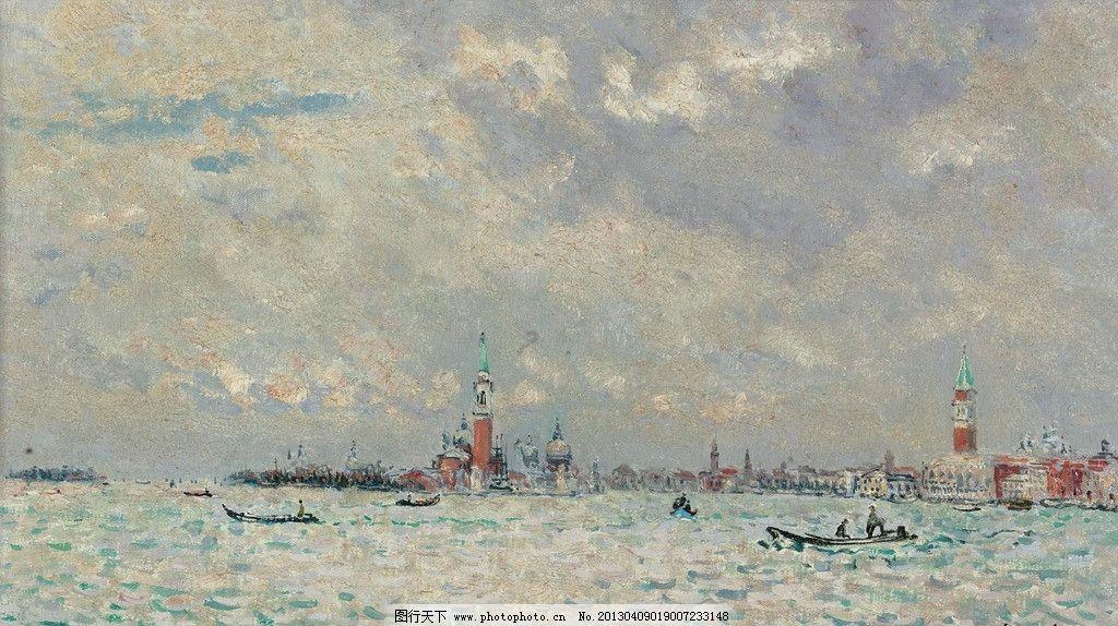 海洋 大海 海水 帆船 自然 美景 风景 景色 景观 油画 欧洲油画