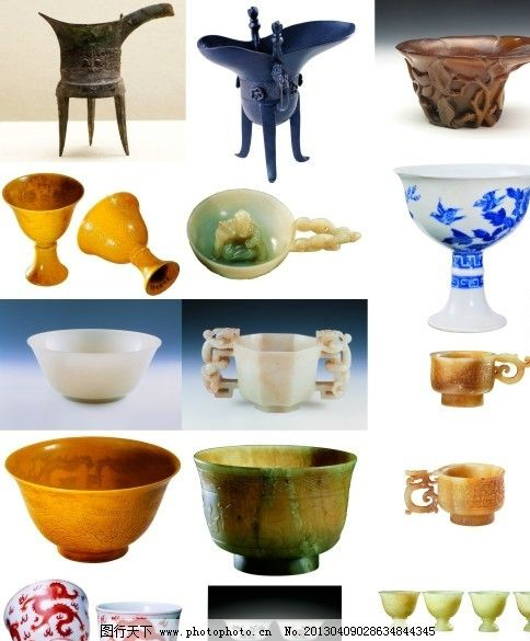 古代杯子 杯子 爵 茶杯 酒杯 玉 陶瓷 佛 传统 家居家具 建筑家居