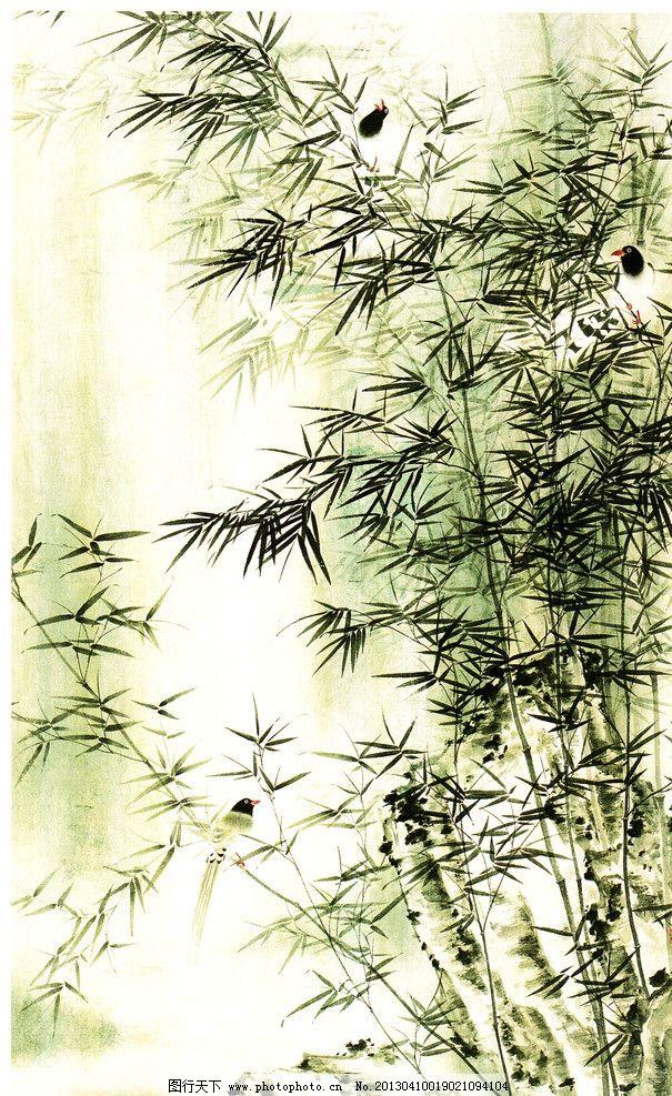 走进水墨画竹子的神秘世界