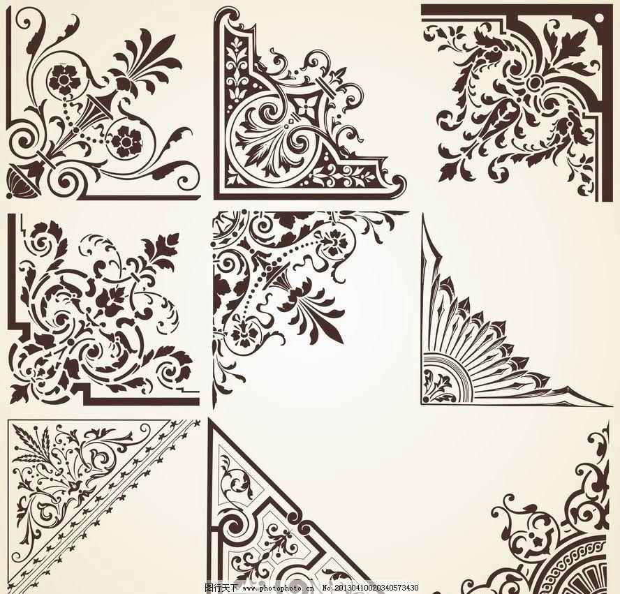 欧式花纹 欧式 古典 花纹 花边 图案 刺绣 雕花 手绘 时尚 潮流 装饰