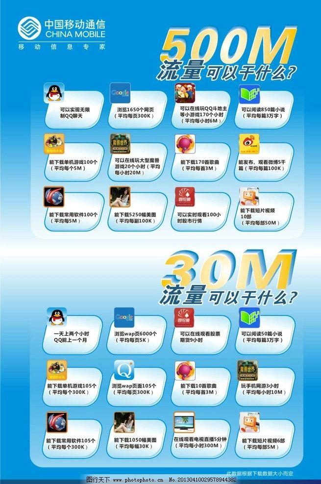中国移动500M流量图片,流量海报 流量宣传 矢