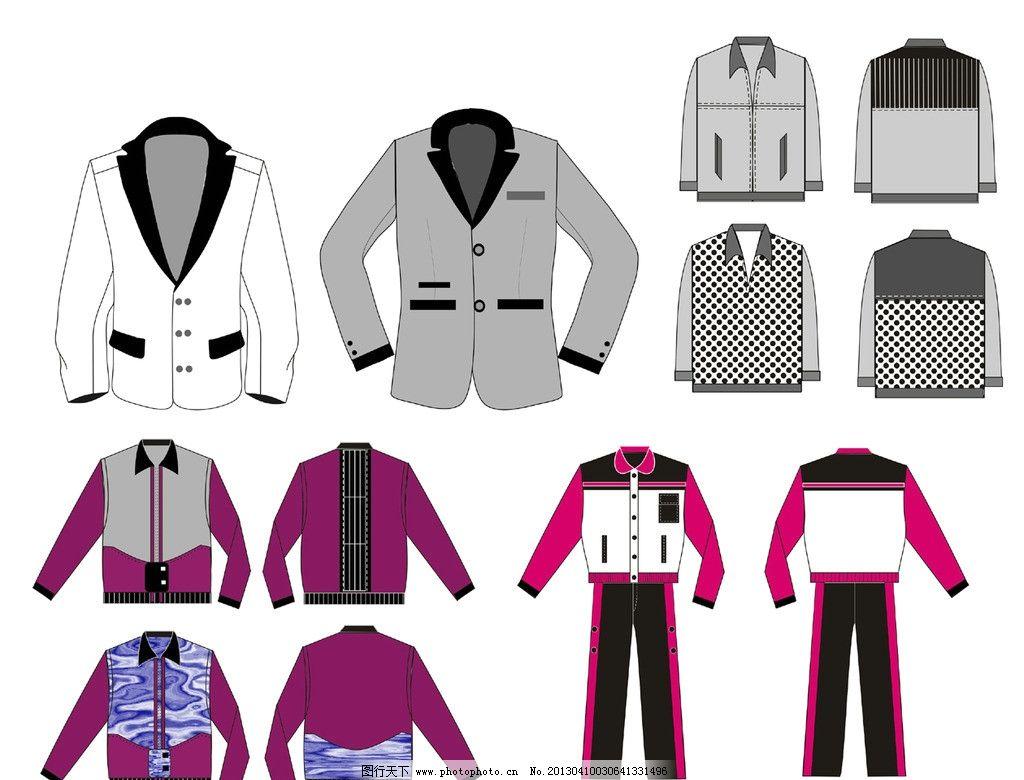 服装 服装设计 服装款式 男女装 商务装 西装 广告设计 矢量 cdr