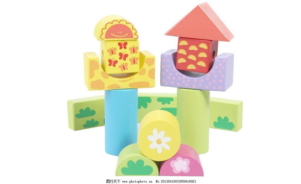 积木房子图片