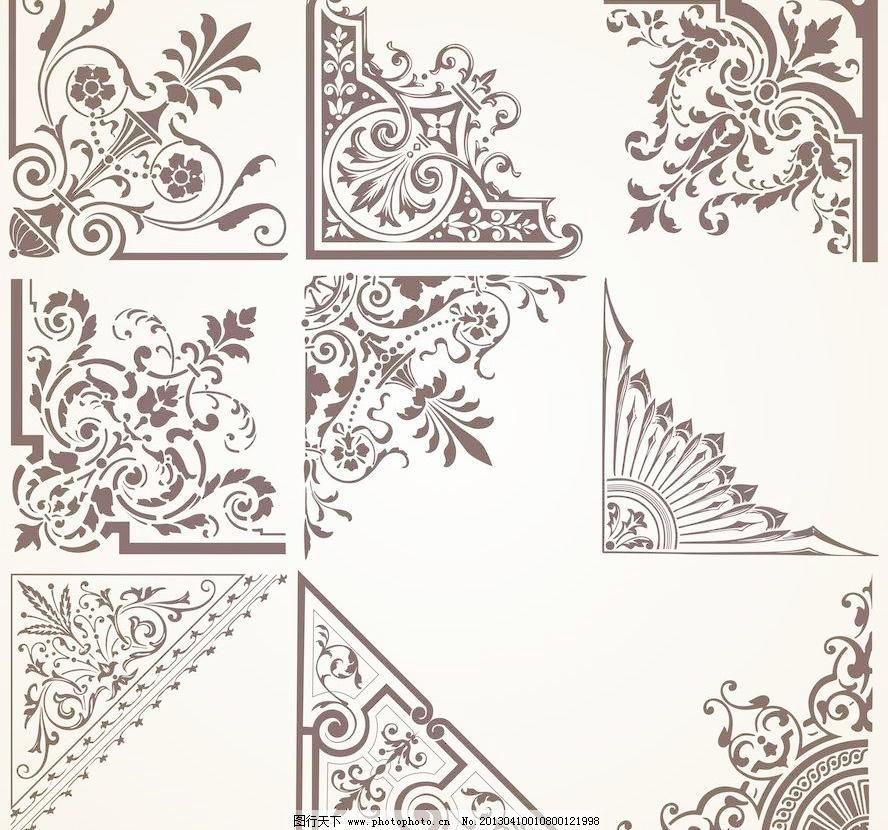 欧式花纹模板下载 欧式花纹 欧式 古典 花纹 花边 图案 刺绣 雕花