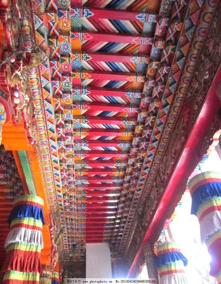 藏族彩色经幡手绘