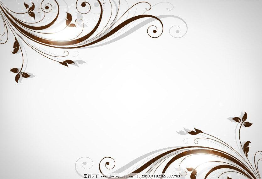 对角 对称 欧式花纹 华丽花纹 灰色背景 卷曲 海报 卡片 花纹花边