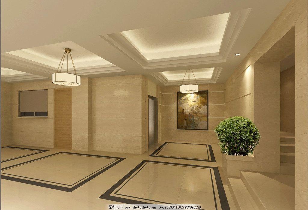 电梯间 室内 装修 玻化砖 吊灯 室内设计 环境设计 设计 200dpi jpg
