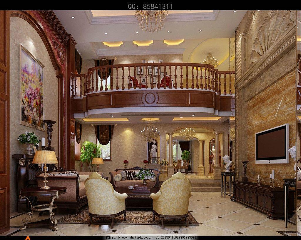 欧式客厅 室内设计        3d      装饰 环境设计 设计 300dpi jpg