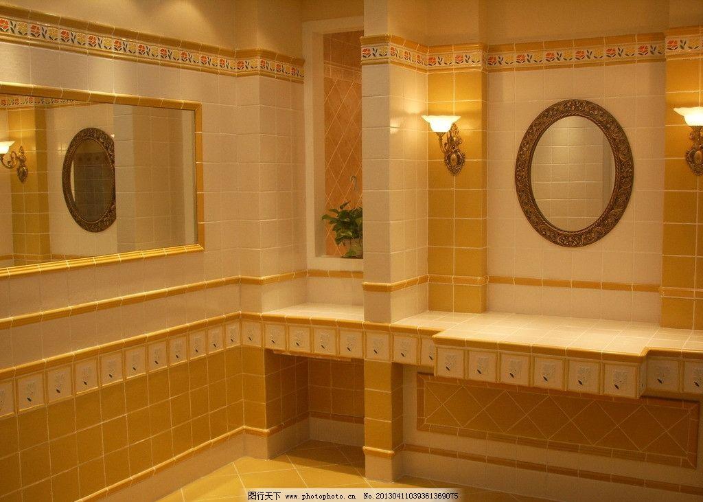 洗手间图片,欧式墙砖 室内摄影 建筑园林-图行天下图库