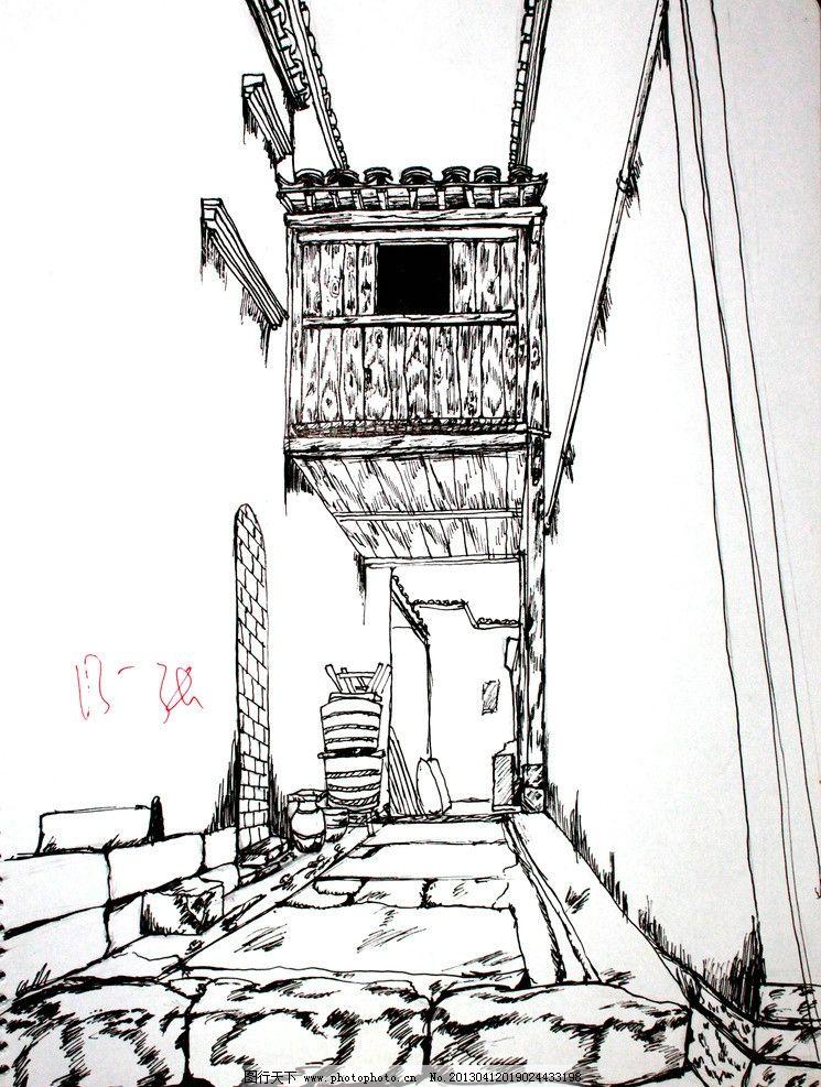 婺源写生 婺源 写生 花纹 建筑 钢笔 绘画书法 文化艺术 设计 72dpi j图片