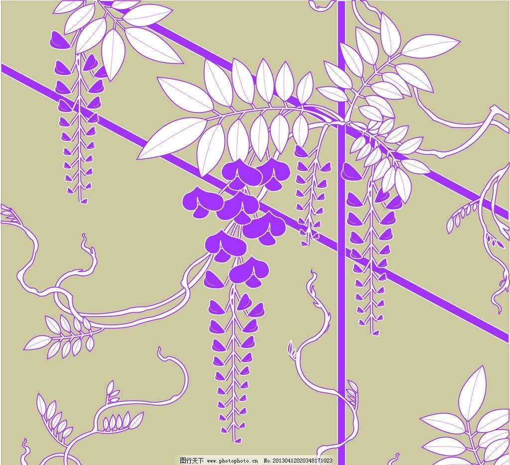 紫藤叶子花边边框