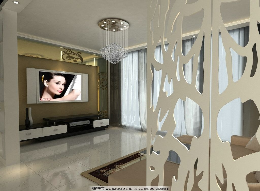 客厅效果图 室内 材质 渲染 灯光
