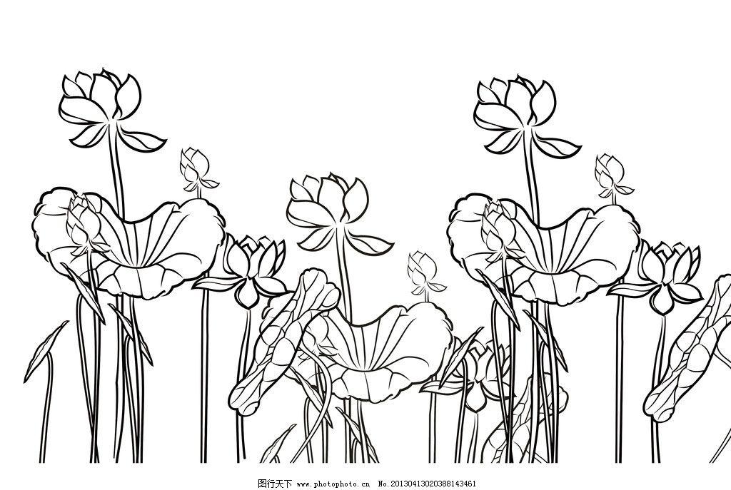 荷花背景 荷花 花 荷 植物 图案 花边花纹 底纹边框 设计 300dpi jpg