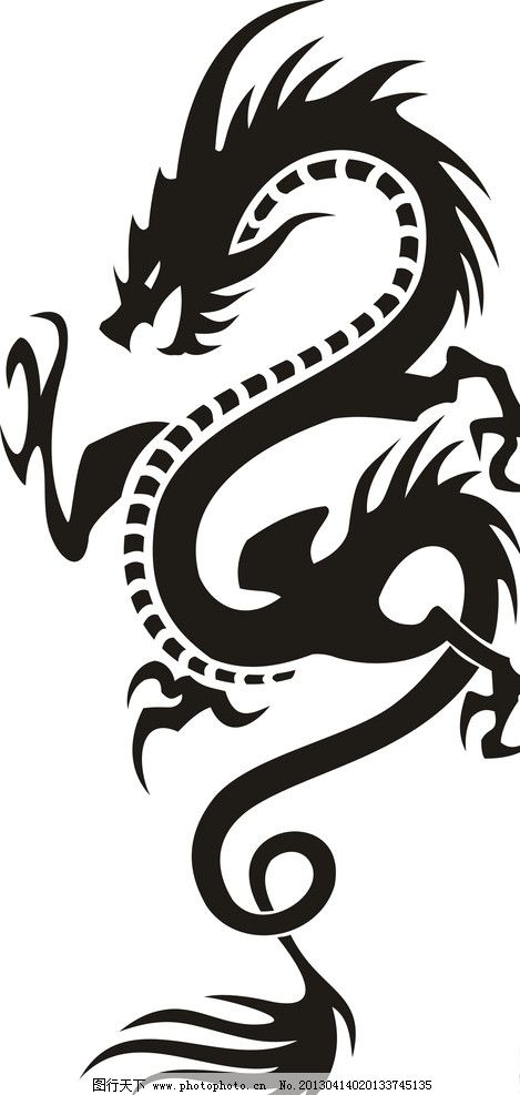 龙图腾 龙 图腾 古典 纹身 飞龙 其他 标识标志图标 矢量 cdr