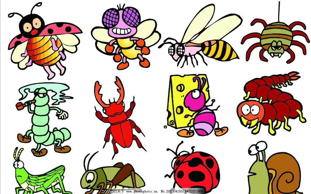 卡通动物 各种动物 广告设计 矢量 cdr 卡通设计