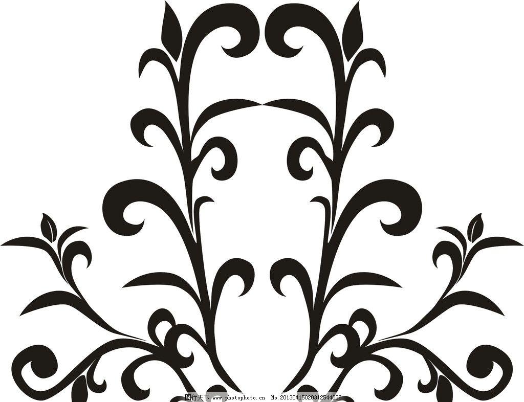 花纹图片,黑白 装饰 古典 底纹 花纹花边 底纹边框-图