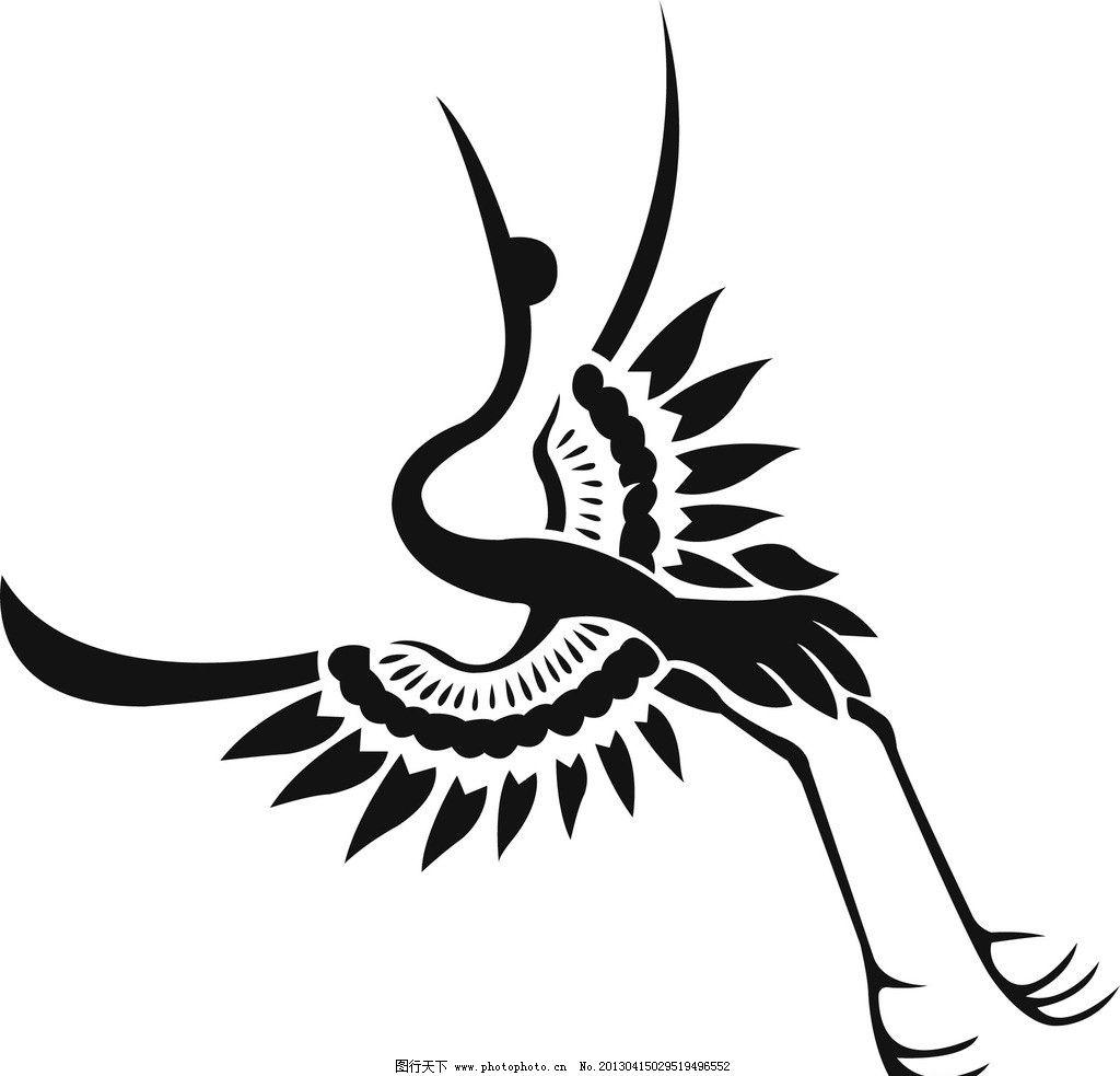 仙鹤矢量 鸟 古代神话动物 飞翔 鹤 设计矢量素材 广告设计 矢量 ai