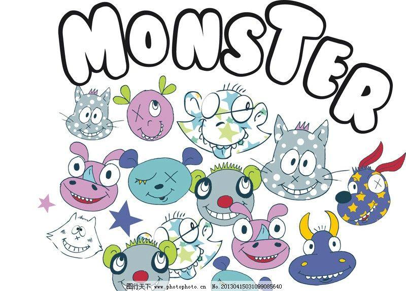 卡通动物 字母印花 ai 时尚印花 卡通鲨鱼 运动图案 另类图案 其他