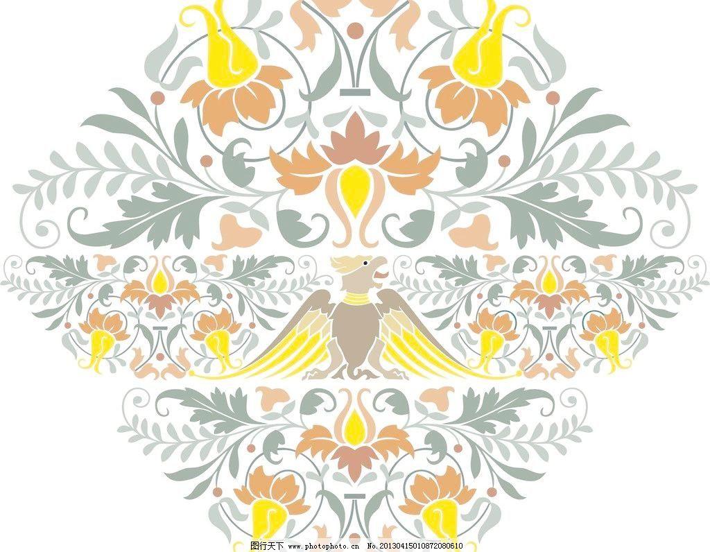 葡萄藤 无缝 怀旧 复古 高雅 传统 花卉 植物 简约 对称 精美 花纹