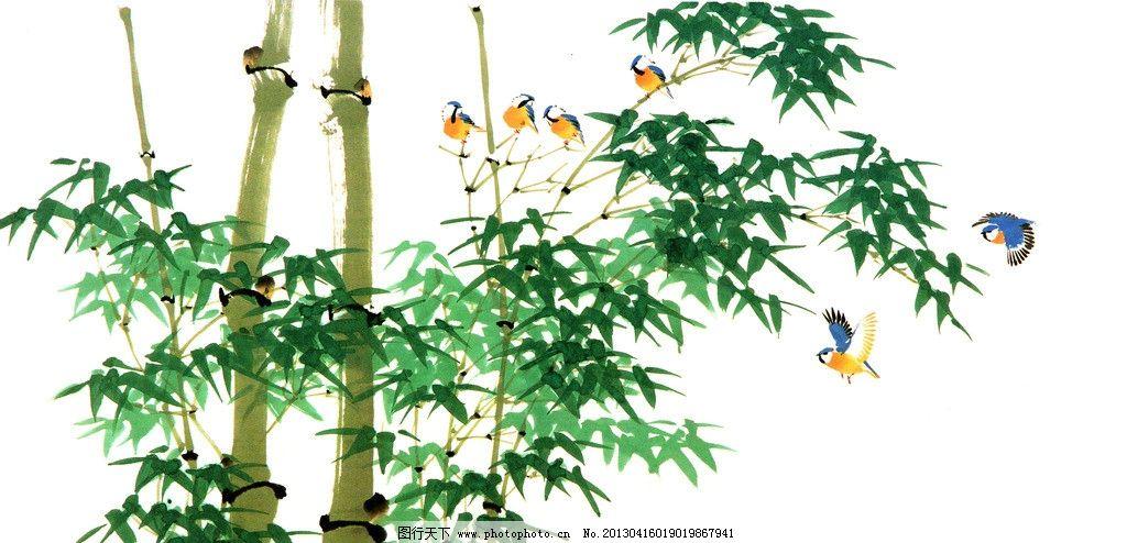 五年级美术画画竹林