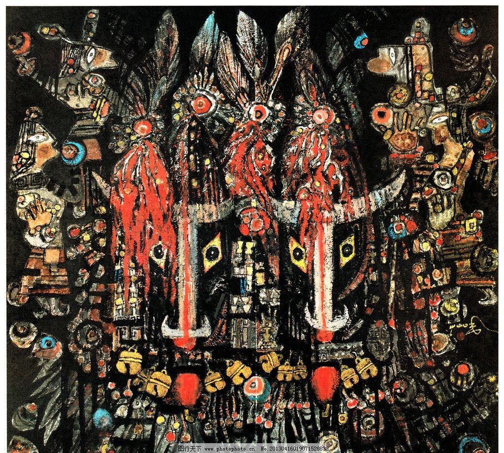 动物图案 藏族绘画 藏文化 马面 铃铛 图案设计 装饰设计 色彩拼接