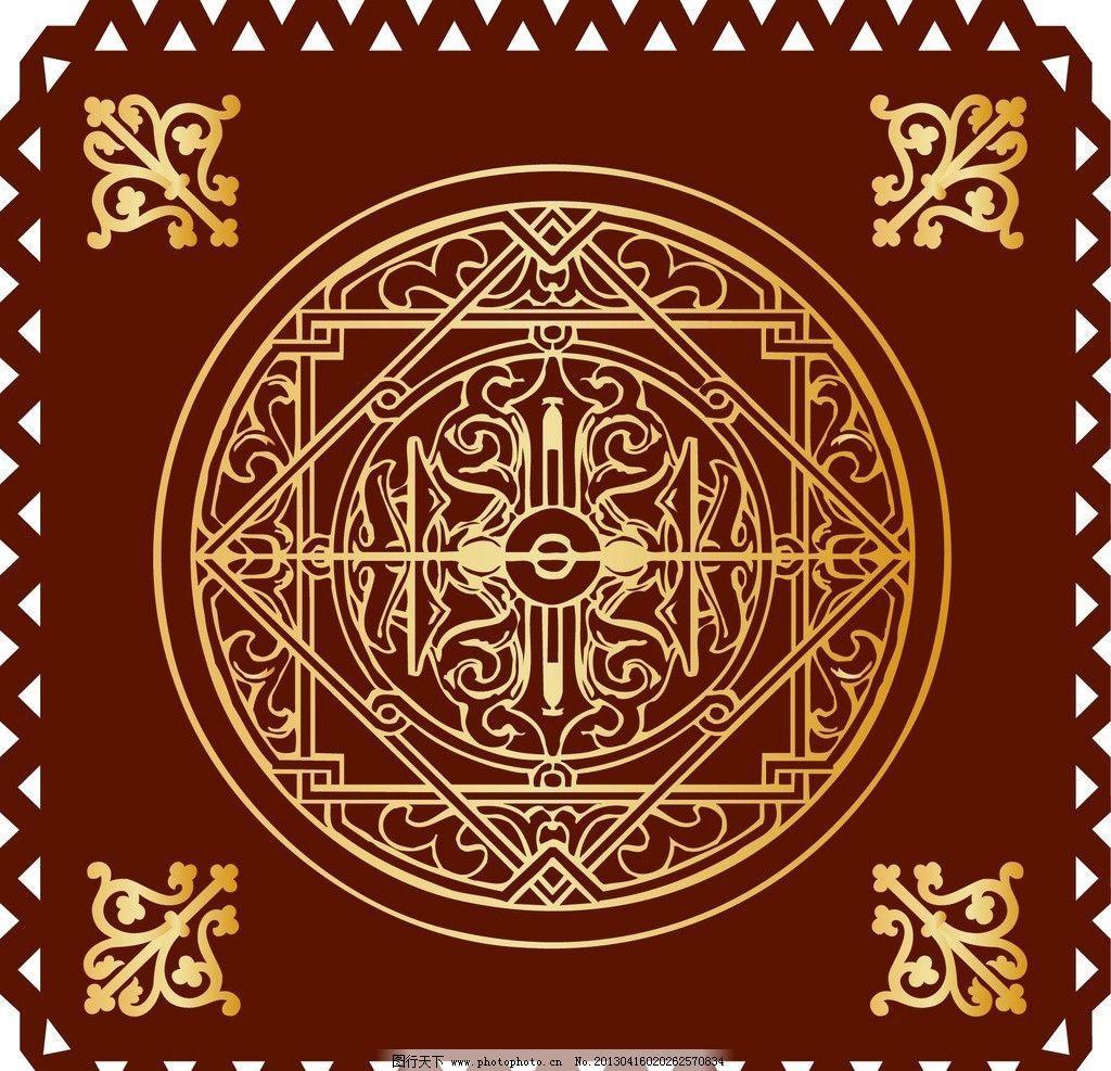 图腾 欧式古典花纹 欧式复古花纹 金色花纹 金色花边 金色边框 花纹墙