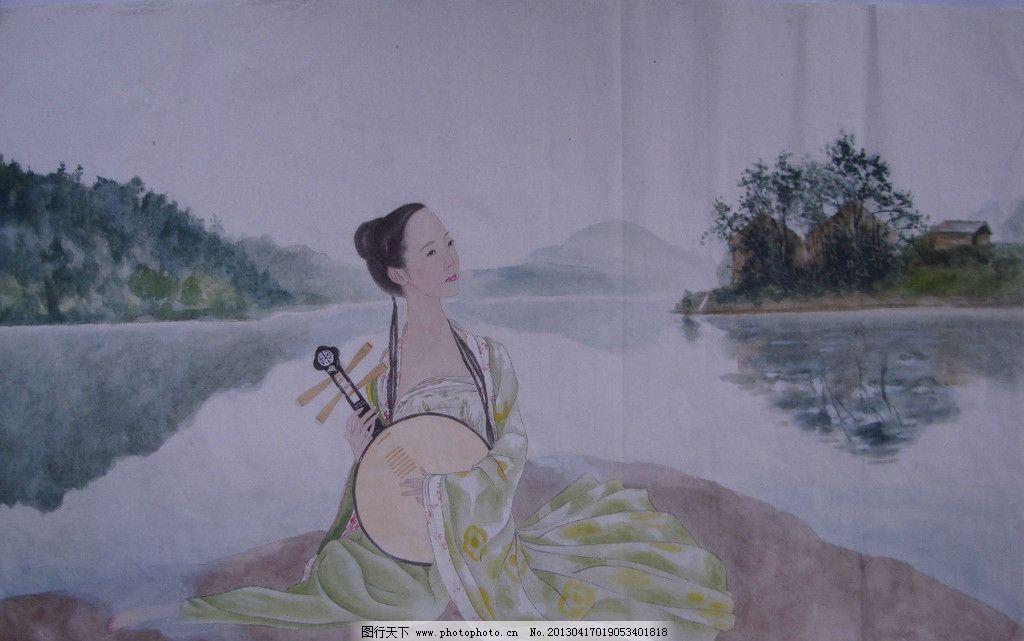 吴玉阳工笔人物画作品 工笔画 工笔重彩画 工笔淡彩画 古装美女