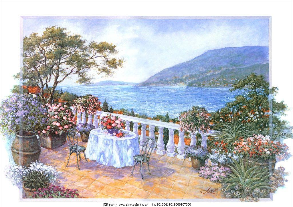 欧式 风景 油画 无框画 欧美风格 装饰画 画芯 欧式风格 壁画 版画