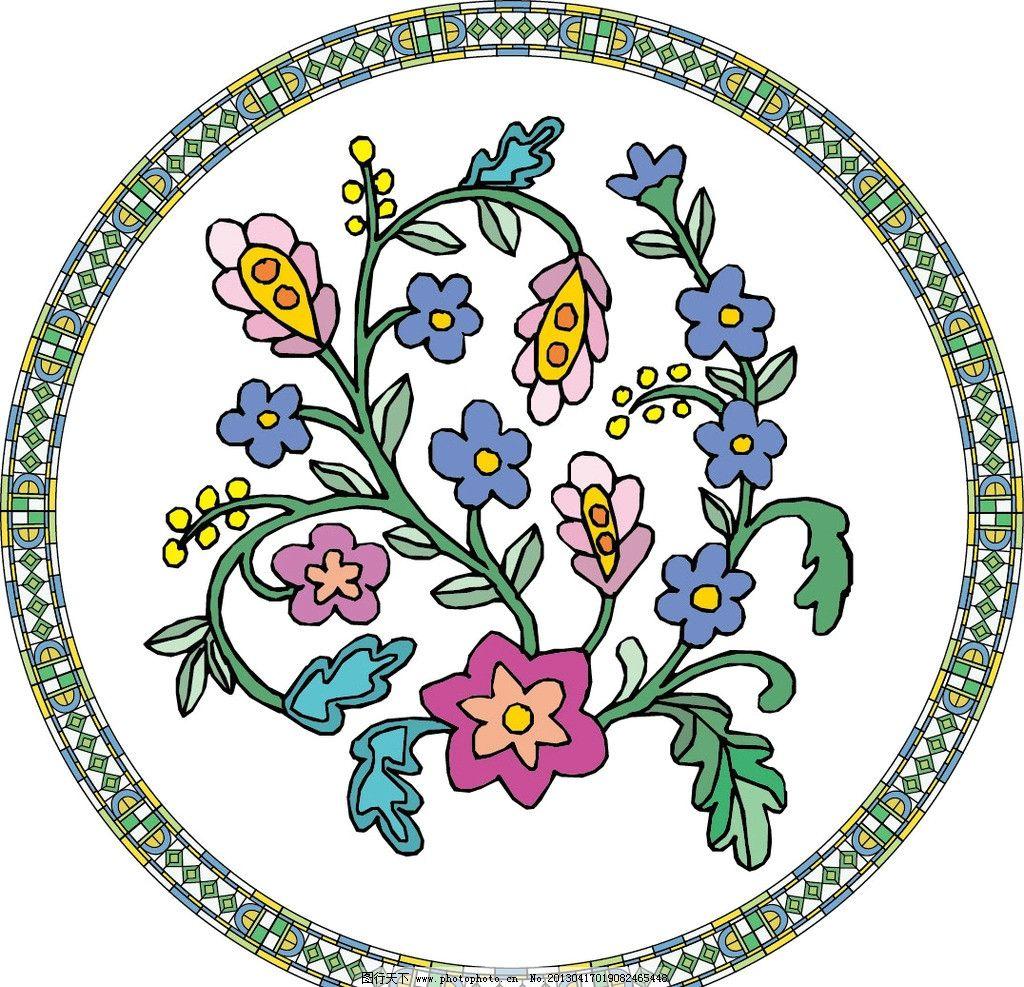 花卉 花纹 欧式花纹 图腾 欧式古典花纹 欧式复古花纹 金色花纹