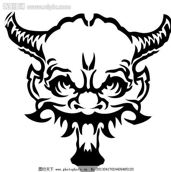 人头兽 怪兽 骷髅头 骷髅 动物 野生动物 生物世界 矢量 eps
