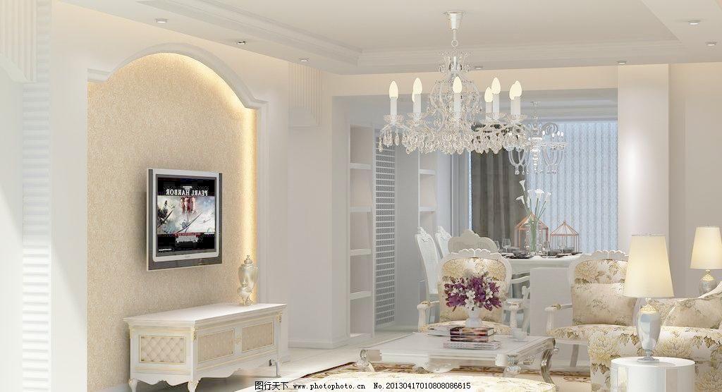 浅色系欧式家装效果图图片