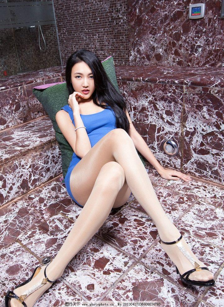 白丝袜长腿模特
